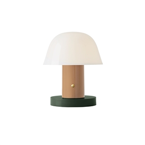 &tradition Setago JH27 Table Lamp Beige & Green