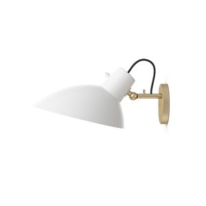 Astep VV Cinquanta Wall Light Brass/White w/switch