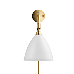 Bestlite BL7 Wall Lamp Mat White & Brass
