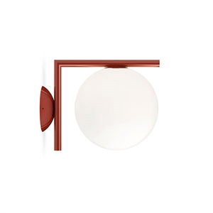 Flos IC C/W1 Wall Lamp Red Burgundy