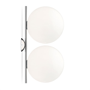 Flos IC C/W2 Double Wall Lamp Chrome