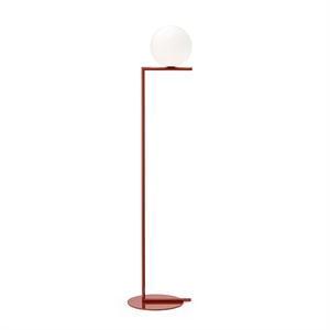 Flos IC F1 Floor Lamp Red Burgundy