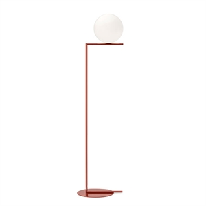 Flos IC F2 Floor Lamp Red Burgundy