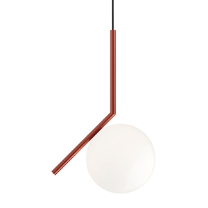 Flos IC S1 Pendant Red Burgundy