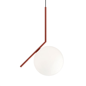 Flos IC S2 Pendant Red Burgundy