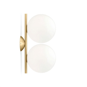 Flos IC C/W1 Double Wall Lamp Brass