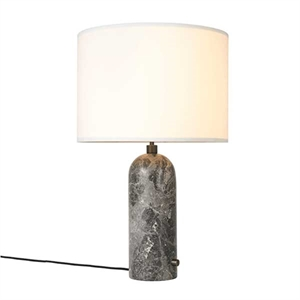 GUBI Gravity Table lamp Grey Marble & White Shade Large