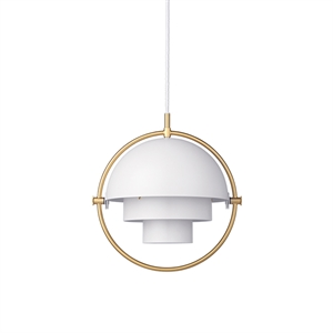 GUBI Multi-Lite Pendant Small Brass & White