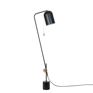 Konsthantverk Knekt Floor Lamp - Matt Black & Raw Brass
