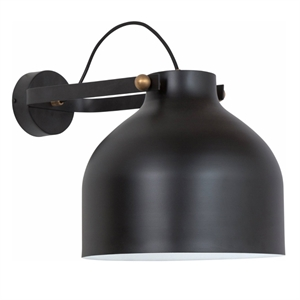 Konsthantverk Kanna Wall Light - Raw Brass & Matt Black