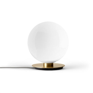MENU TR Table & Wall Lamp Brushed Brass M. Shiny Opal Bulb