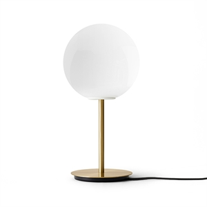 MENU TR Table Lamp Brushed Brass with Shiny Opal Bulb