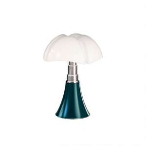 Martinelli Luce Mini Pipistrello 1965 Table Lamp Blue-Green Cordless