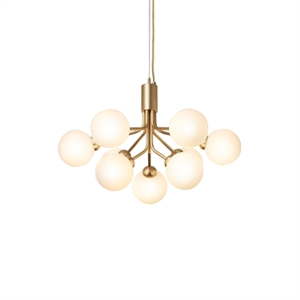 Nuura Apiales 9 Chandelier Brass and Opal Glass