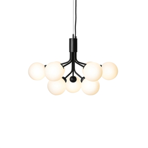 Nuura Apiales 9 Chandelier Black and Opal Glass