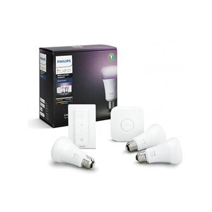 Philips Hue White & Colour Ambiance 9.5W E27 Starter Pack