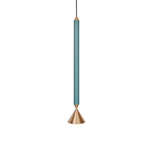 Pholc APOLLO 59 Pendant Blue/Polished Brass