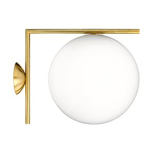 Flos IC C/W 2 Wall Lamp Brass