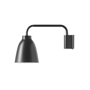 Fritz Hansen Caravaggio Read HSP Wall Lamp Black