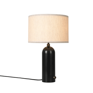 GUBI Gravity Table lamp Blackened Steel & Canvas Shade Small