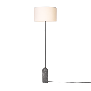 GUBI Gravity Floor lamp Grey Marble & White Shade Large
