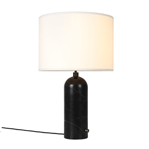 GUBI Gravity Table lamp Black Marble & White Shade Large