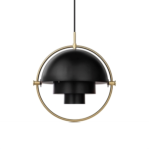 GUBI Multi-Lite Pendant Charcoal Black & Brass