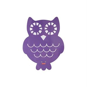 roommate Owl Silhouette Wall lamp  Purple